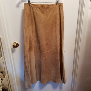 Chico's Suede skirt-size 2